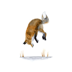 Jumping Fox Painting