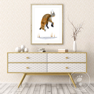 Jumping Fox Wall Art