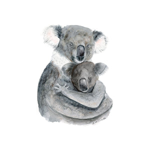Mom and Baby Koala Nursery Print
