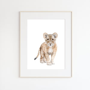 Lion Cub Nursery Art