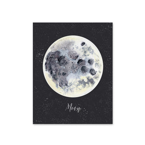 Moon Night Sky Poster