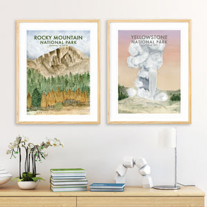A Pair of National Park Posters