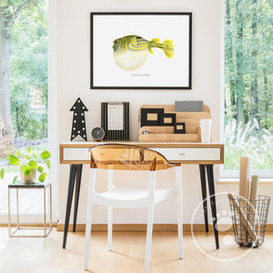 Northern Puffer Decor