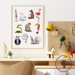 Animal Number Playroom Decor