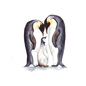 Penguin Family Nursery Art