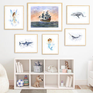 Pirate Ship Fantasy Nursery Print Set