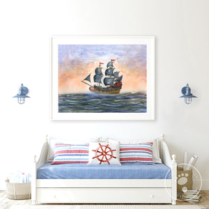 Pirate Ship Playroom Decor