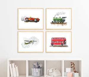 Transportation Wall Art Set