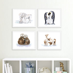 Framed Set Of Polar Animal Prints