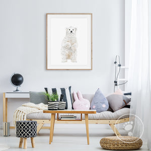 Polar Bear Kid's Room Decor