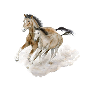 Galloping Horse Watercolor Art