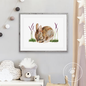 Sleeping Rabbit Nursery Decor