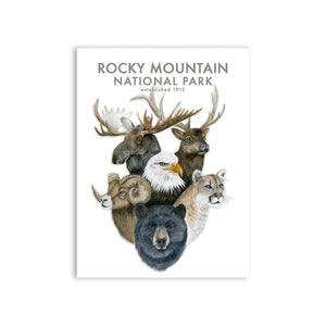 Rocky Mountain National Park Wildlife Watercolor Print