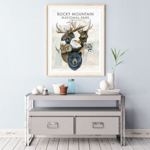 Rocky Mountain National Park Outdoors Poster
