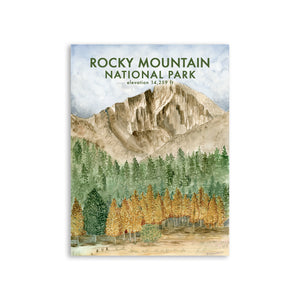 Rocky Mountain National Park Long's Peak Poster