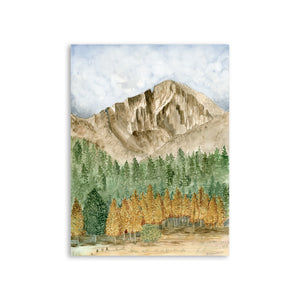 Rocky Mountain Watercolor