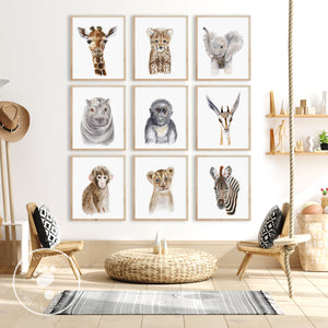 Safari Baby Animal Nursery Decor