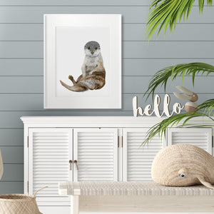 Sea Otter Baby Room Decor