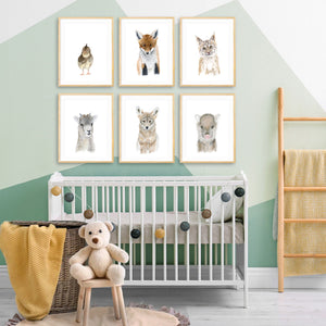Southwest Animal Nursery Print Set