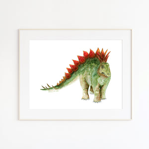 Stegosaurus Watercolor Print