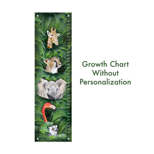 Jungle Animal Kid's Growth Chart - Personalizable