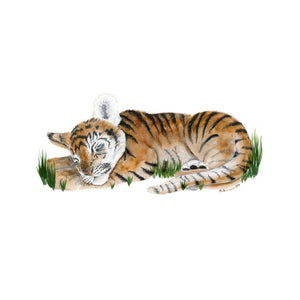 Sleeping Baby Tiger Animal Art