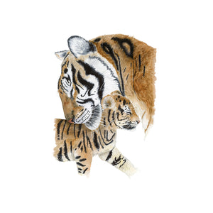 Tiger Baby and Mom Nursery Decor