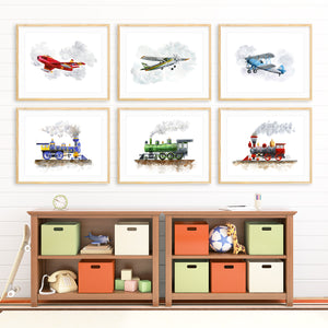Transportation Nursery Print Set