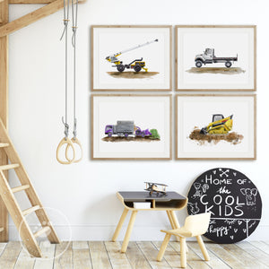 Construction Truck Wall Decor