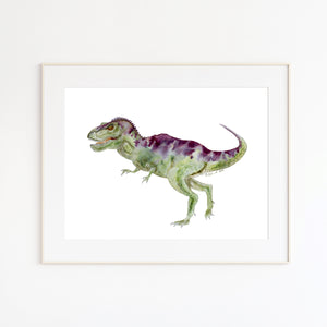 T-Rex Watercolor Illustration