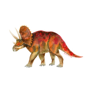 Triceratops Kids Wall Art