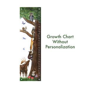 Woodland Growth Chart - Personalizable
