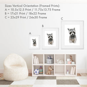 Size Options for Framed Nursery Art