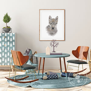 Baby Wolf Nursery Decor