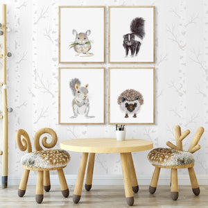 Forest Friends Nursery Wall Art
