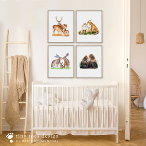 Woodland Animal Family Baby Room Decor