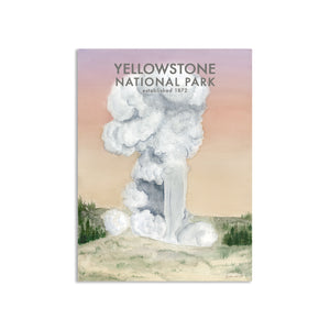 Old Faithful Watercolor Poster