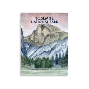 Yosemite National Park Poster - Half Dome