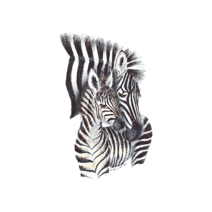 Mom and Baby Zebra Nursery Decor