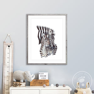 Mom and Baby Zebra Wall Art