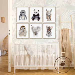 Jungle Baby Animal Nursery Decor