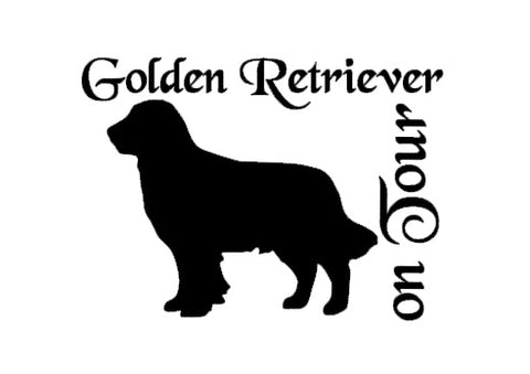 Golden Retriever Autoaufkleber #2