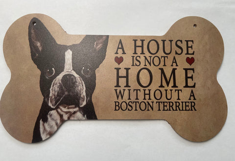 Boston Terrier Wandschild / Dekoschild