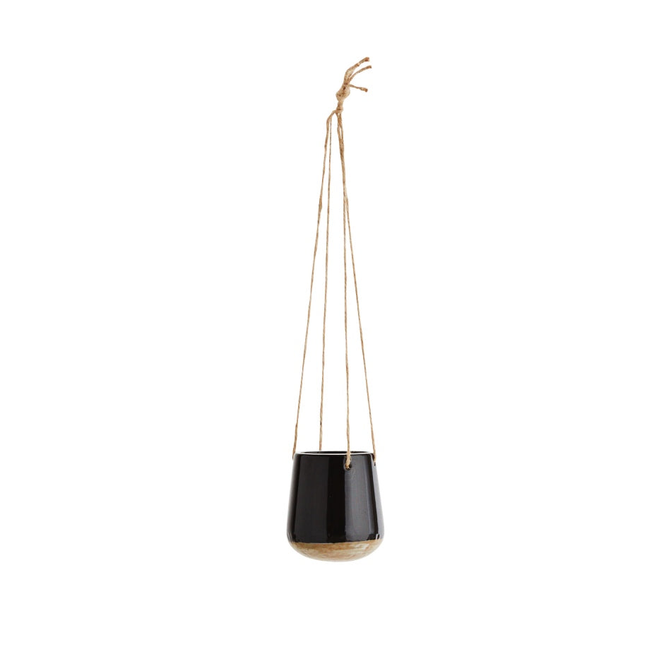 Black Ceramic Hanging Planter