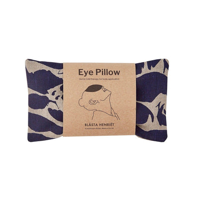 Linen Wheat Pack Eye Pillow - Navy