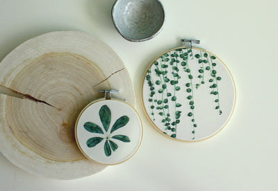 Umbrella Leaf Top Botanical Hoop