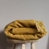 Shimmer Mustard Wool Throw