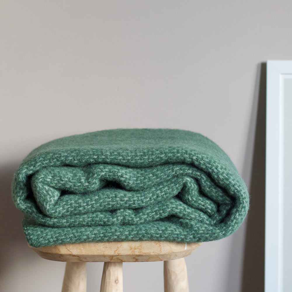 Klippan, Lambswool throw Green