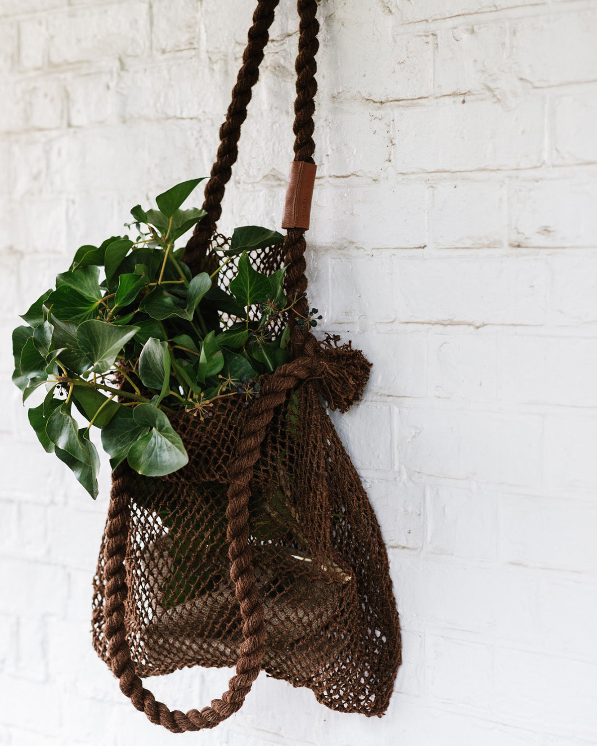 the dharma door hemp string bag acacia