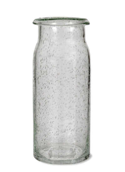 recycled glass vase - tall - gardentrading